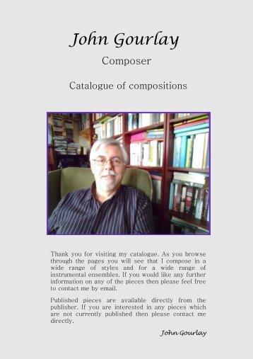 John Gourlay Catalogue March 2014