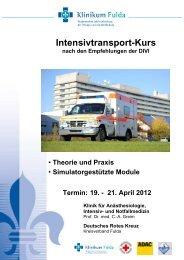 Flyer Divi Intensivtransport - Klinikum Fulda