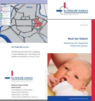 Nach der Geburt - Klinikum Stadt Hanau