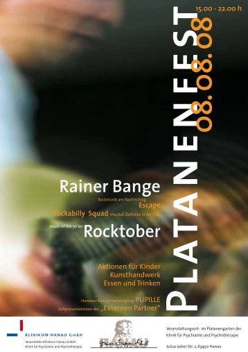 Rainer Bange Rocktober - Klinikum Stadt Hanau