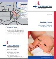 Nach der Geburt - Klinikum Hanau