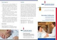 Informationen finden Sie auch in dem Fyler zum ... - Klinikum Hanau