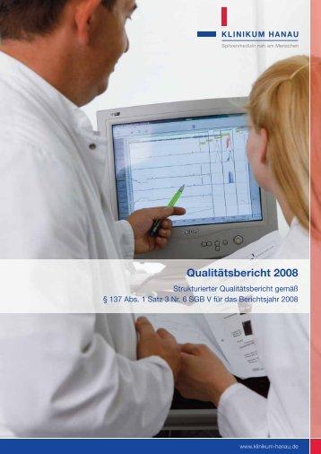 Qualitätsbericht 2008 - Klinikum Stadt Hanau