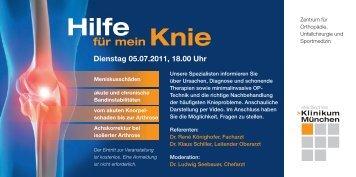 für mein Knie - Städtisches Klinikum München