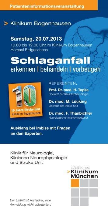Programm (PDF) - Städtisches Klinikum München