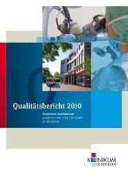 Qualitätsbericht 2010 - im Klinikum Oldenburg