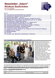 Newsletter-12-2013 - Klinikum Saarbrücken