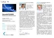 GenetikTICKER Ausgabe 3 (Mai 2013) als pdf ... - Klinikum Stuttgart