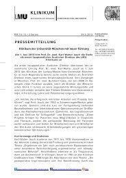 PM 14 - Wechsel in der - des Klinikums - Ludwig-Maximilians ...