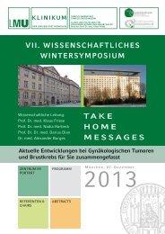 Take Home Messages - des Klinikums - LMU München