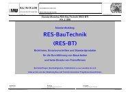 Standardkatalog RES-BauTechnik (RES-BT) - des Klinikums