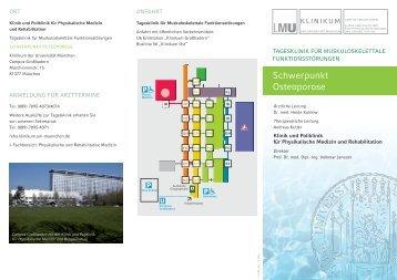 Flyer Tagesklinikprogramm Osteoporose - Klinikum der Universität ...