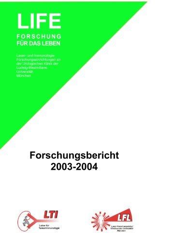 2003-2004 - des Klinikums - Ludwig-Maximilians-Universität München