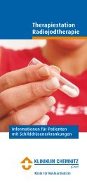 Informationsbroschüre Radiojodtherapie - Klinikum Chemnitz