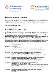 Download der Pressmitteilung ( 64 KB PDF Format ) - Klinikum ...