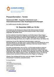 Presseinformation - Termin 16. Dezember 2008 um 16 Uhr