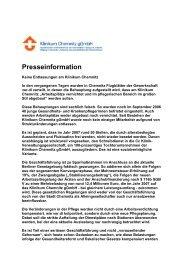 Download der Pressemitteilung ( 19 KB PDF Format ) - Klinikum ...