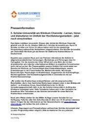 Download der Pressemitteilung ( 34 KB PDF Format ) - Klinikum ...