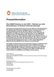 Download der Pressemitteilung ( 18 KB PDF Format ) - Klinikum ...