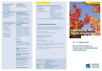 EuropäischE WochE gEgEn dEn KrEbs - Klinikum Chemnitz