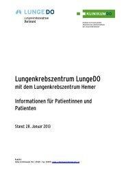 Patienteninformationsmappe - Klinikum Dortmund