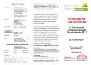 5. Dortmunder Patientenseminar Flyer - Klinikum Dortmund
