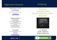 Transabdominaler Darmultraschall am TRUST-Trainer - Klinikum ...