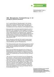 1500 minimalinvasive Prostata-OP - Klinikum Dortmund