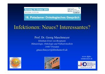Infektionen in der Onkologie - Ernst von Bergmann