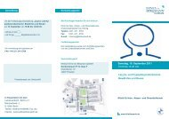 Samstag, 10. September 2011 10.00 bis 14.00 Uhr Larynx- und ...