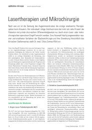 Lasertherapien und Mikrochirurgie - Ernst von Bergmann