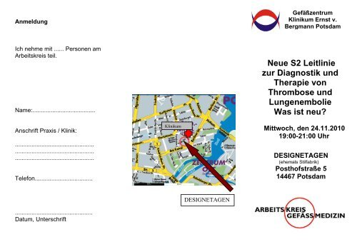 Neue S2 Leitlinie zur Diagnostik und Therapie von Thrombose und ...