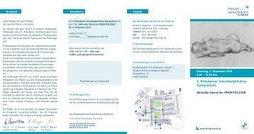 Flyer_Symposium Proktologie - Ernst von Bergmann