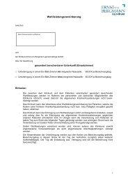 Wahlleistungsvereinbarung - Ernst von Bergmann