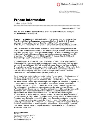 Download als PDF - Klinikum Frankfurt Hoechst