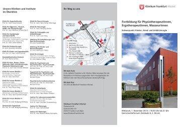 FobiUCH 13092010.indd - Klinikum Frankfurt Höchst