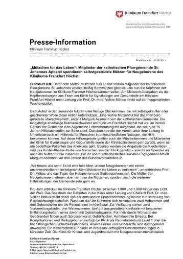Presse-Information - Klinikum Frankfurt Hoechst