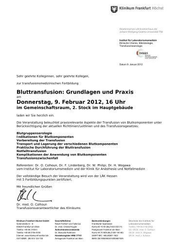 Grundlagen und Praxis Donnerstag, 9. Februar 2012, 16 Uhr