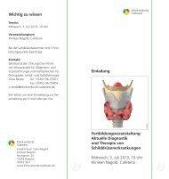 Fortbildungsveranstaltung Aktuelle Diagnostik und Therapie von ...