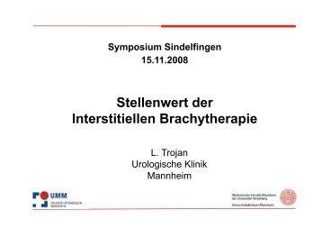 Stellenwert der Interstitiellen Brachytherapie