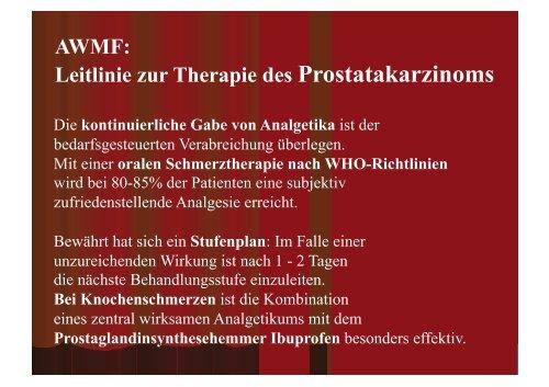 Schmerztherapie beim Prostata-Ca
