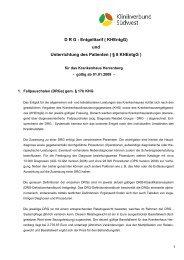 D R G - Entgelttarif ( KHEntgG) und Unterrichtung des Patienten ...