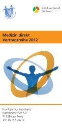 Medizin direkt Vortragsreihe 2012