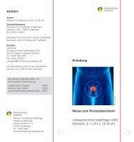 Anfahrt Neues zum Prostatakarzinom Urologische Klinik Sindelfingen