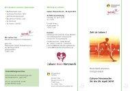 Calwer Herzwoche 24. bis 29. April 2010 Zeit ist Leben !
