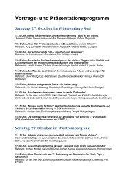 Vortrags- und Präsentationsprogramm - Klinikverbund-Südwest