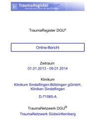 Dokumenten-Titel: TraumaRegister DGU® - Online-Report