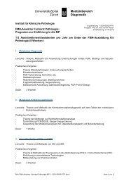 UniversitätsSpital Zürich u Medizinbereich Diagnostik - Institut für ...