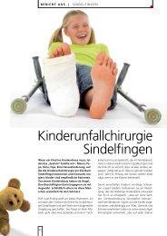 Kinderunfallchirurgie Sindelfingen