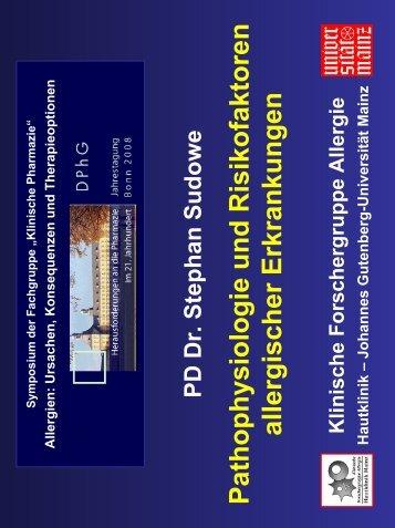 Pathophysiologie und Risikofaktoren allergischer Erkrankungen Dr ...
